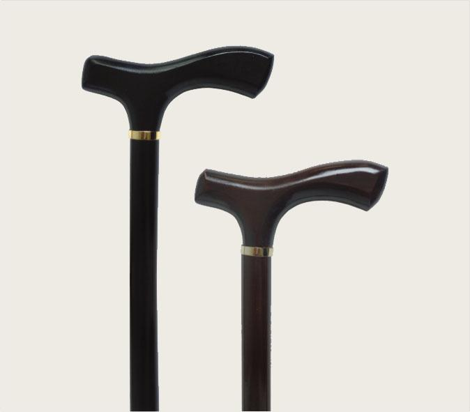 Walking stick - wooden  Handle: Τ-shaped