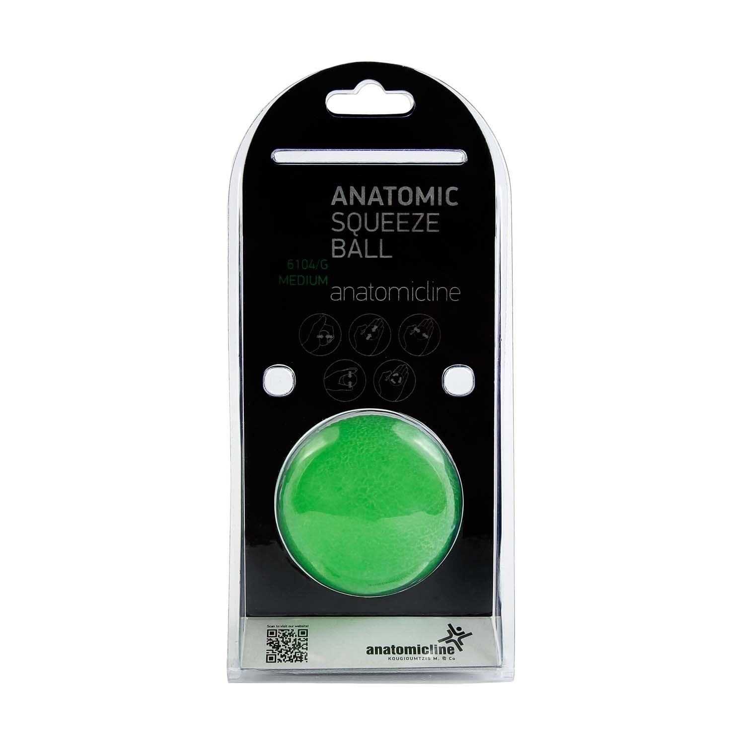 Hand exercising balls green