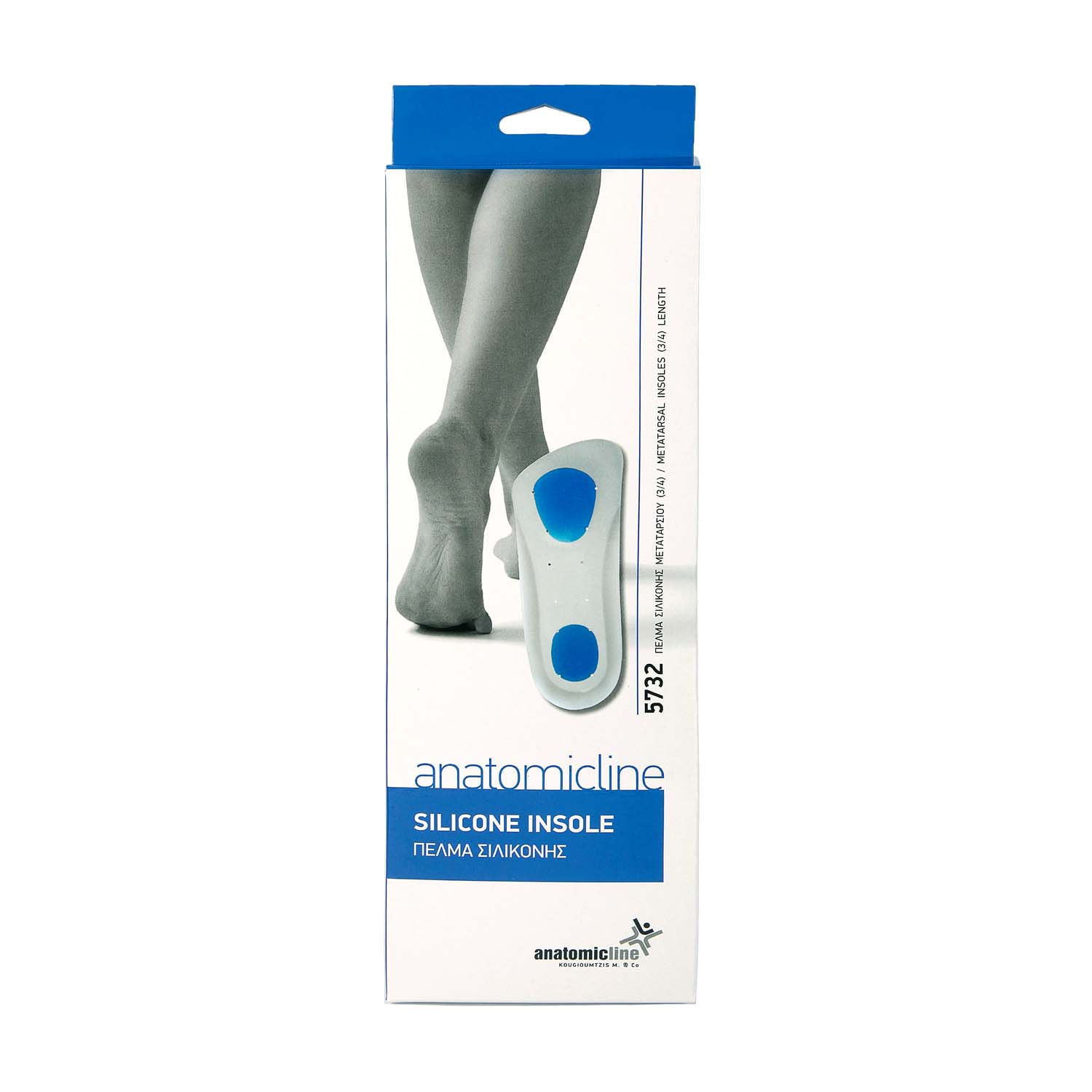 Metatarsal insoles ¾ length