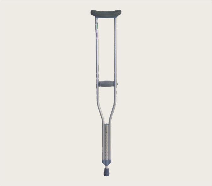 Πατερίτσα μεταλλική 125 - 140 cm ρυθμιζόμενο ύψος